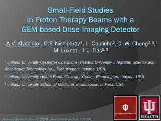 Small-Field Studies  in Proton Therapy Beams with a  GEM-based Dose Imaging Detector