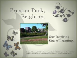 Preston Park, Brighton.