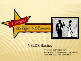 NSLDS Basics