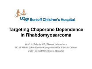 Targeting Chaperone Dependence in Rhabdomyosarcoma