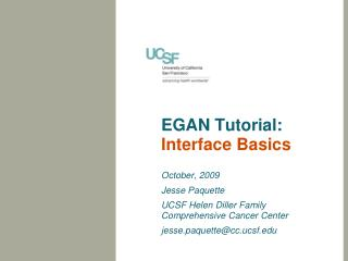 EGAN Tutorial: Interface Basics