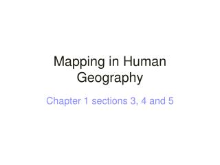 Mapping in Human Geography