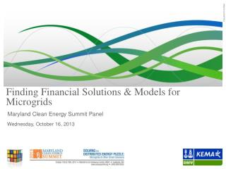 Finding Financial Solutions & Models for Microgrids