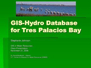 GIS-Hydro Database for Tres Palacios Bay