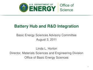 Battery Hub and R&D Integration