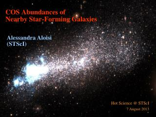 COS Abundances of  Nearby  Star -Forming Galaxies