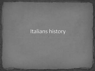 Italians history