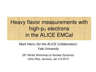 Heavy flavor  measurements with high- p T  electrons  in the ALICE  EMCal