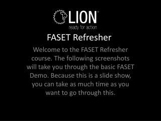 FASET Refresher