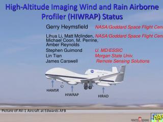 High-Altitude Imaging Wind and Rain Airborne Profiler (HIWRAP) Status