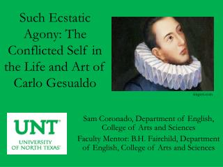 Such Ecstatic Agony: The Conflicted Self in the Life and Art of Carlo  Gesualdo