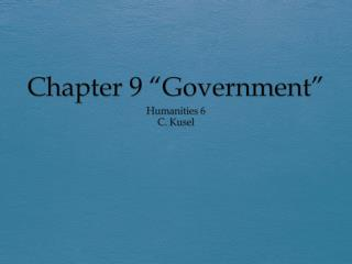 "Chapter 9 ""Government"""