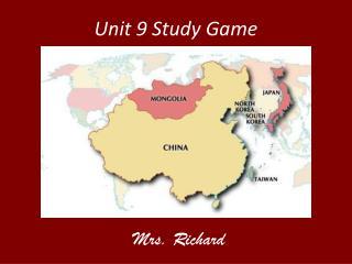 Unit 9 Study Game