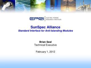 SunSpec  Alliance  Standard Interface for Anti-Islanding Modules