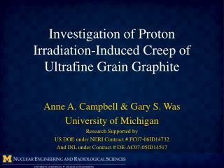 Investigation  of  Proton Irradiation-Induced Creep  of  Ultrafine Grain  G raphite