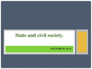 State and civil society.