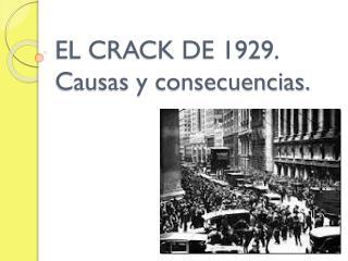 EL CRACK DE 1929. Causas y consecuencias.