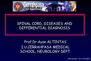 SPINAL CORD, DISEASES AND DIFFERENTIAL DIAGNOSIS