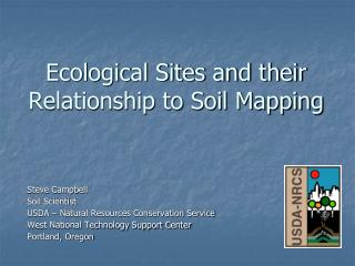 Ecological Sites and their Relationship to Soil Mapping