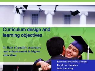 Curriculum design and  learning objectives