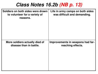 Class Notes 16.2b  (NB p.  13)
