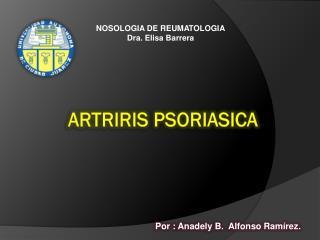 ARTRIRIS PSORIASICA