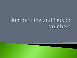 Number Line and Sets of Numbers