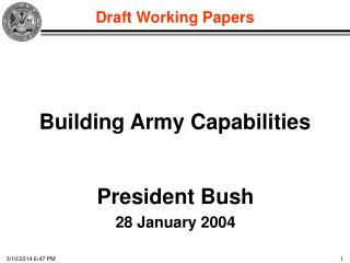 Building Army Capabilities