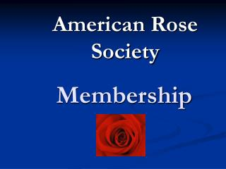 Membership Power Point Presentation