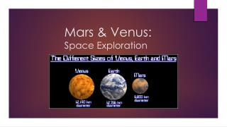 Mars & Venus: Space Exploration