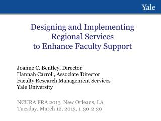 Designing and Implementing Regional Services to Enhance Faculty Support