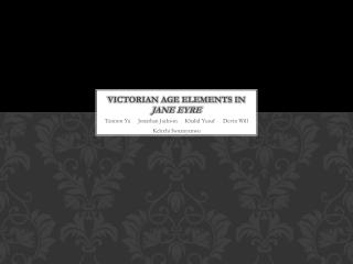 Victorian Age Elements in  Jane Eyre