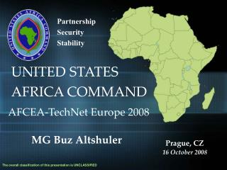 AFRICOM Command Brief as of 16SEP08