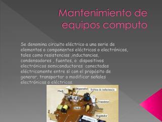 Mantenimiento de equipos computo