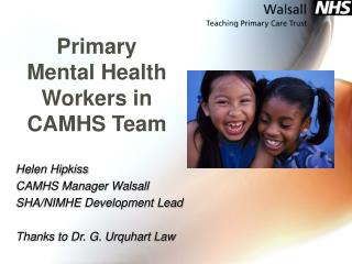 Primary Mental Health Workers in CAMHS Team