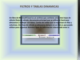 FILTROS Y TABLAS DINAMICAS