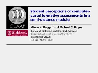 Student perceptions of computer-based formative assessments in a semi-distance module
