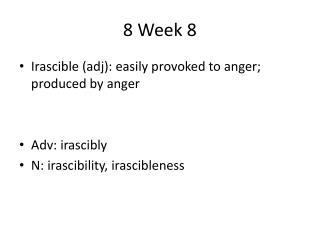 8 Week 8