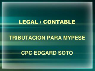 LEGAL / CONTABLE