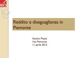 Reddito e diseguaglianza in Piemonte