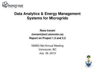 Data Analytics & Energy Management Systems for Microgrids