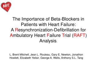 The Importance of Beta-Blockers in Patients with Heart Failure: