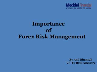 Importance  of       Forex Risk Management
