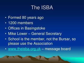 The ISBA