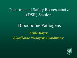 Departmental Safety Representative  DSR Session:  Bloodborne Pathogens