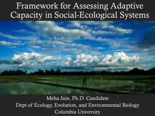 Framework for Assessing Adaptive Capacity in Social-Ecological Systems