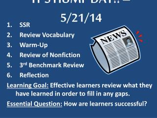 IT'S HUMP DAY!! – 5/21/14