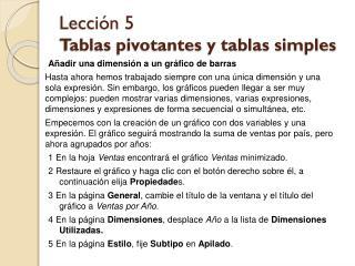Lección 5 Tablas pivotantes y tablas simples