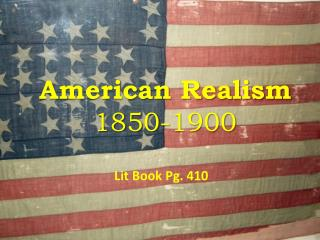 American Realism 1850-1900