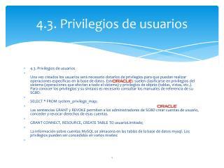 4.3.  Privilegios  de  usuarios